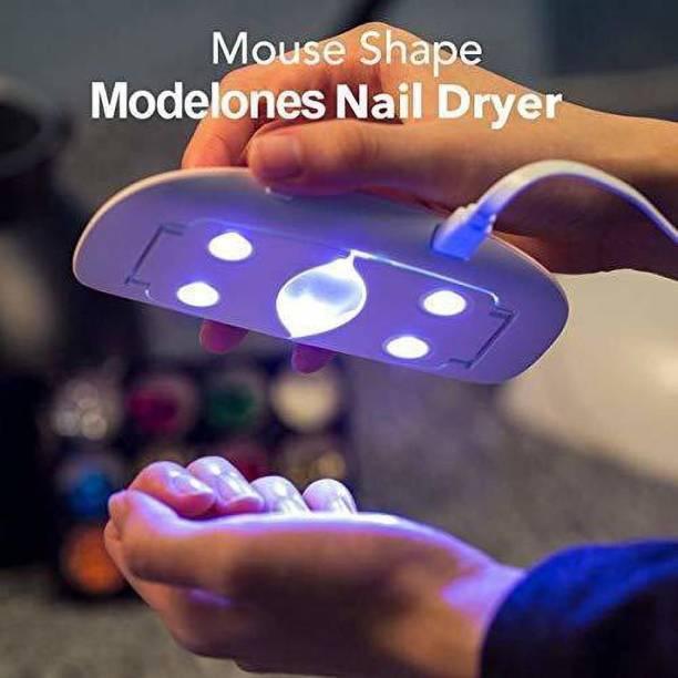 FIREFLY HUB LED UV Nail Polish Dryer, Mini Foldable Nail Lamp, Gel Based Nail Polish for All Kind of Nail Paints Nail Polish Dryer