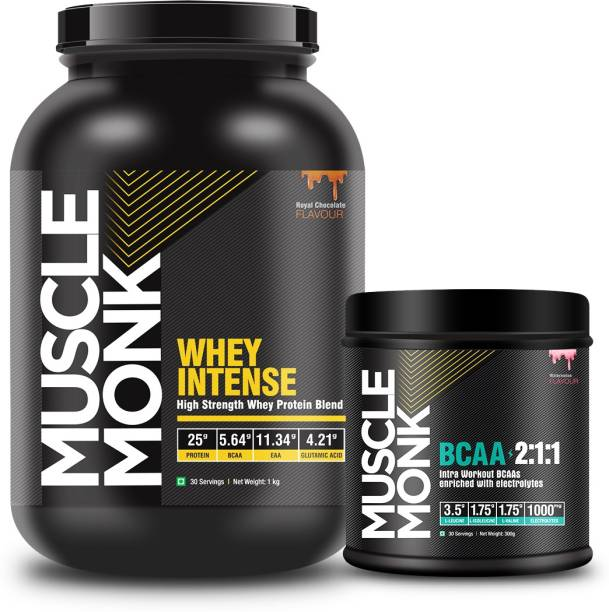 MuscleMonk Highly Intense Whey Protein (1KG Royal Chocolate Watermelon - 300GMS - 30 Serves) Whey Protein