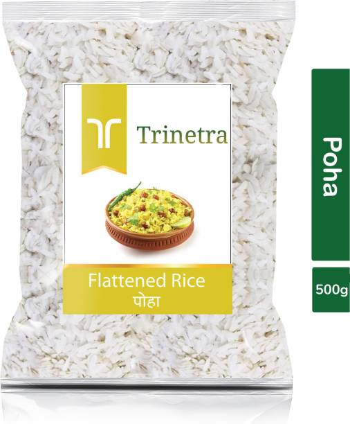 Trinetra Best Quality Poha (Flattened Rice)-500gm (Pack Of 1) Poha