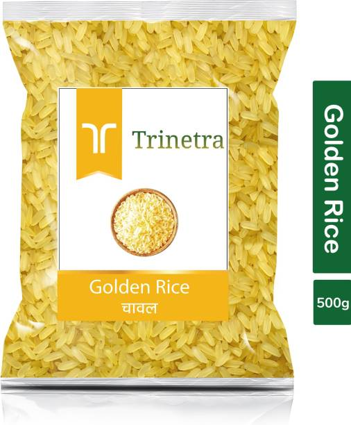 Trinetra Best Quality Golden Rice-500gm (Pack Of 1) Yellow Rice (Medium Grain, Parboiled)