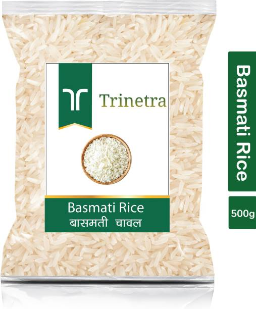 Trinetra Best Quality Basmati Rice-500gm (Pack Of 1) Basmati Rice (Long Grain, Raw)