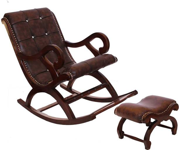 Artesia Rosewood (Sheesham) Wood Rocking Chair For Living Room / Garden - Rosewood Finishing for adults/Grand parents Solid Wood 1 Seater Rocking Chairs