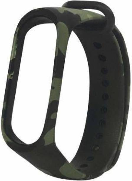 Datalact Replacement Strap for Xiaomi Mi Band 3 Strap & Mi Band 3-4 HRX Edition Strap Military Green Camouflage|Military Army Style Smart Band Strap