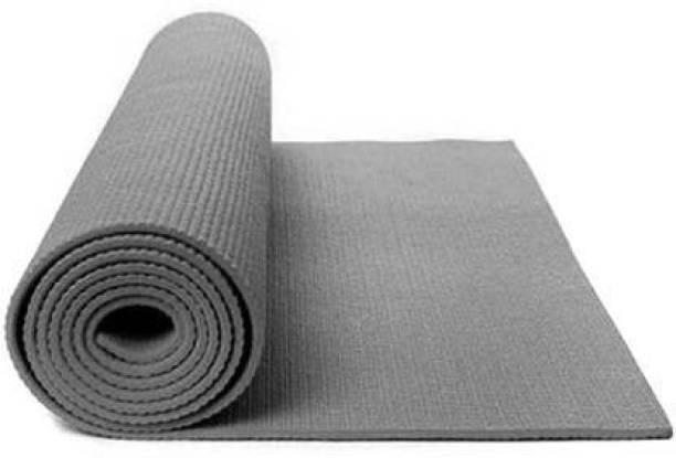 ALLURE Anti Skid Yoga Mat with Carry Bag Grey 4 mm Yoga Mat
