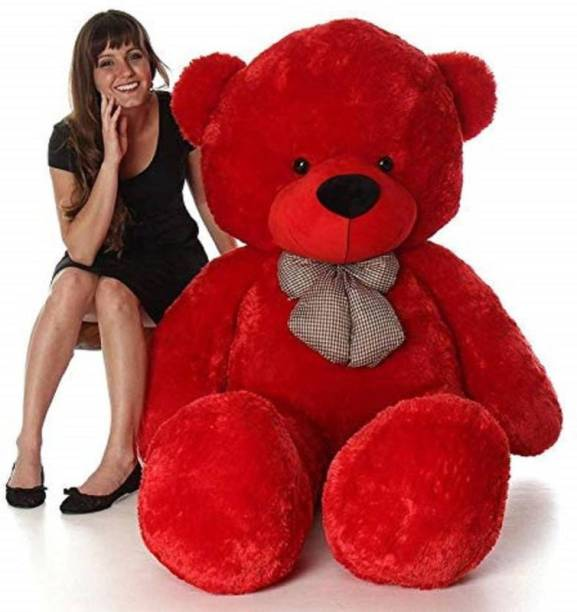 TRUELOVER TEDDY 6 Feet Red Large Jumbo Teddy Bear Soft toys -182 cm (Red)  - 182 cm