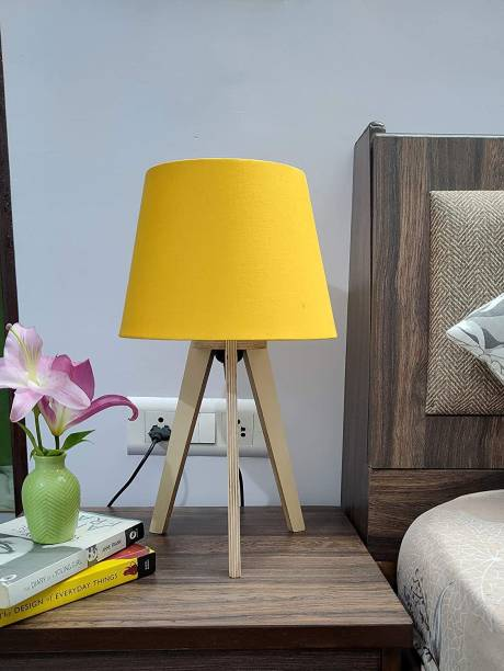 PlyPandit Tripod Table Lamp with All Fresh Color and Finishes (Yellow) Table Lamp