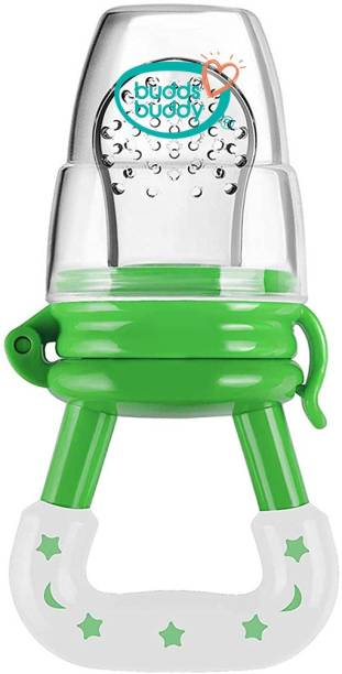 Buddsbuddy BPA Free Soft Silicone Fruit and Food Nibbler, Soft Pacifer/Teether/Food Feeder for 0 to 6 months Baby Feeder
