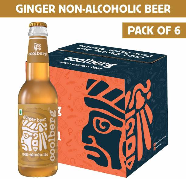 coolberg Ginger Non Alcoholic Beer - 330ml (Pack of 6) Glass Bottle