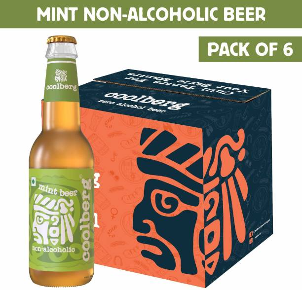 coolberg Mint Non Alcoholic Beer - 330ml (Pack of 6) Glass Bottle