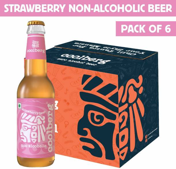 coolberg Strawberry Non Alcoholic Beer - 330ml (Pack of 6) Glass Bottle