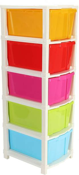 PINEVINTA Plastic Free Standing Chest of Drawers
