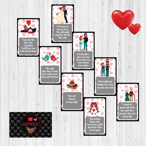 Festiko Set of 8 Stages of Love Story Card, Perfect for Valentine Day, Birthday Surprise,Wedding,Marriage Annivesary Gift for Your Loved Once Greeting Card Greeting Card