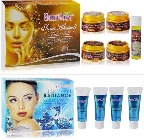 NutriGlow Sona Chandi and Diamond Radiance Facial Kit