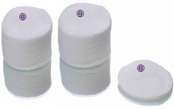 Ear Lobe & Accessories Premium Cotton Pads Round Wipes Pack (80Pads)