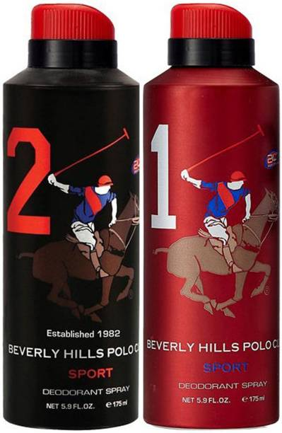 BEVERLY HILLS POLO CLUB One No. 2 and One No. 1 Deodorant Spray  -  For Men