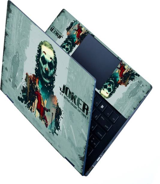 dzazner HD Printed Full Panel Laptop Skin Sticker Vinyl Fits Size Upto 15 inches No Residue, Bubble Free - Joker Crazier Vinyl Laptop Decal 15.6