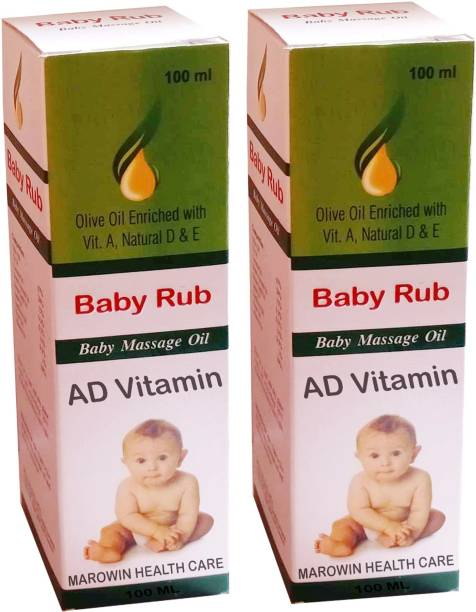 Baby Rub AD Vitamin Baby Massage Oil With Olive Oil and Til Oil