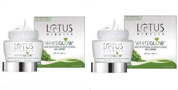 LOTUS HERBALS WhiteGlow Skin Whitening & Brightening GEL Creme 40g (pack of 2)