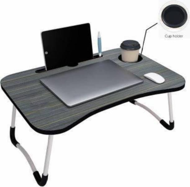 A V CREATION MATT BLACK Wood Portable Laptop Table