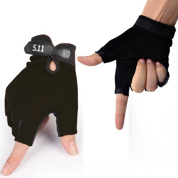 Leosportz Cycling Gloves Bicycle Non Slip Half Finger Cycling Gloves