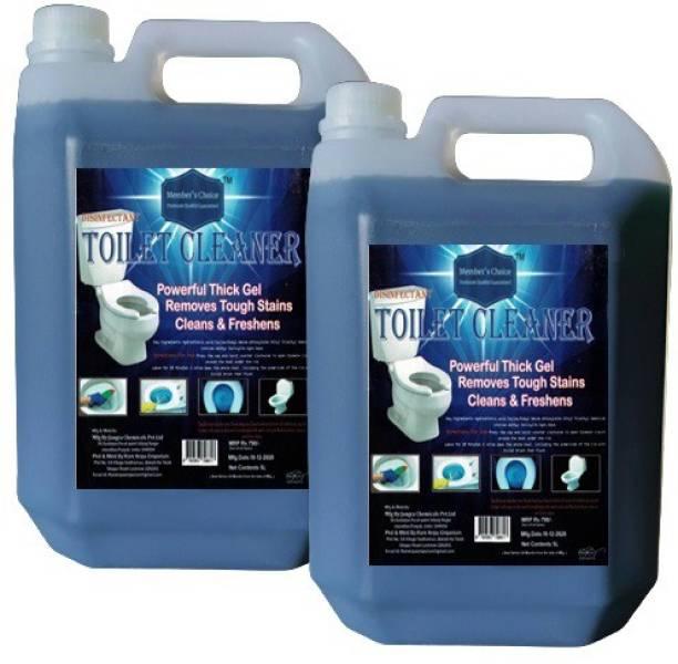 Members choice 100% Premium Quality Toilet Cleaner 5L Each (pack of 2) Regular Liquid Toilet Cleaner