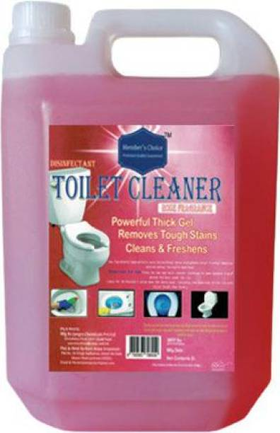 Members choice Disinfectant Toilet Cleaner 5Ltr. Come with Rose Fragrance Rose Liquid Toilet Cleaner