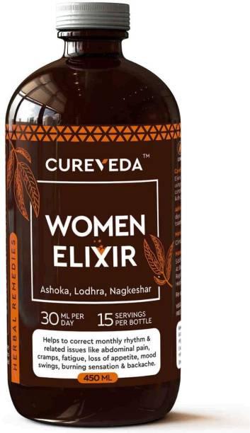 Cureveda Women Elixir - For Women's Health for irregular periods - pack of 1