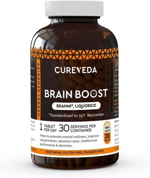 Cureveda Brain Boost - For Memory & Focus - pack of 1