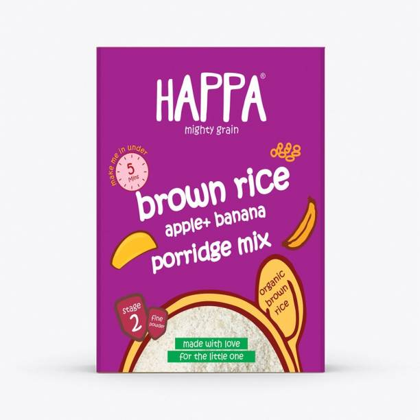 Happa Organic Brown Rice Apple + Banana Porridge Mix Cereal baby food Cereal