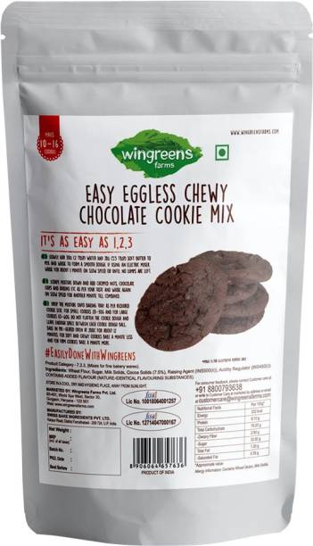 Wingreens Farms Easy Eggless Chewy Chocolate Cookie Mix (300g) Self Rising Flour Powder