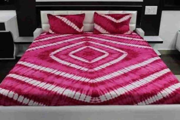 ABHISHEK FASHION 351 TC Cotton Double King Jaipuri Prints Bedsheet
