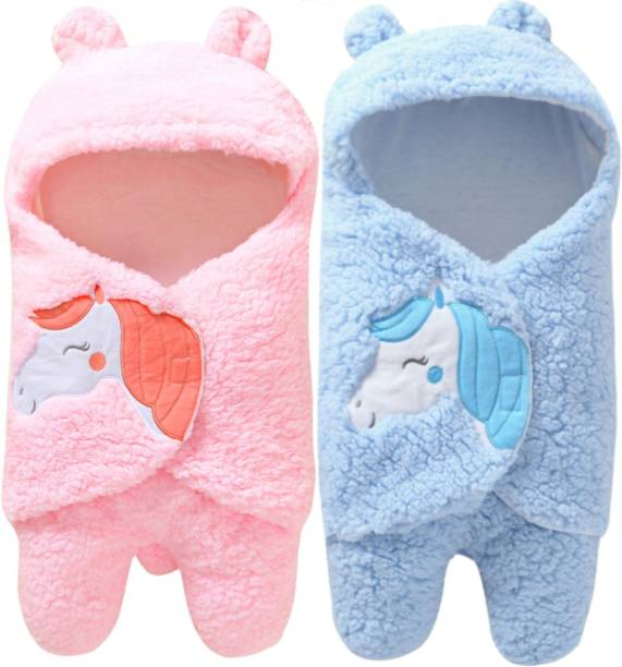 BRANDONN New Born Supersoft Wearable Swaddle Wrapper Cum baby Sleeping bag Combo of 2 Sleeping Bag