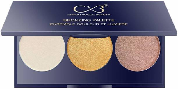CVB C60-01 Bronzing Palette, Contour & Highlighter Set, Face MakeUp with Multicolor Shades, Radiant Blusher For Natural Glow