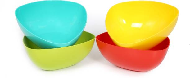 PERFECTBELL Plastic Microwave Safe Serving Bowls, Cooking and Mixing Bowl Set for Soup, Cake, Cereal, Snacks, Dry Fruits, Kitchen Items Plastic Serving Bowl