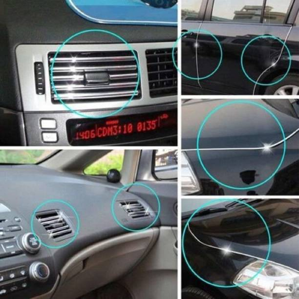 AuTO ADDiCT Chrome-Strip-A7-225 Car Beading Roll For Window, Bumper, Grill and Garnish Cover