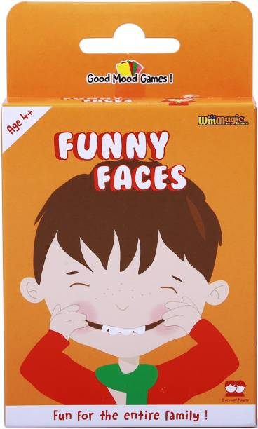 Good Mood Games Funny Faces, Card Games, Develop Visual Distinction for Boys & Girls, Age 4+ & Above