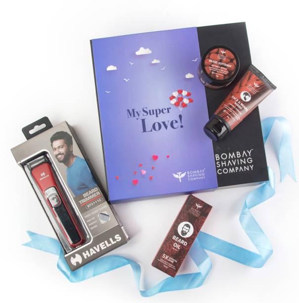 BOMBAY SHAVING COMPANY Beard Care & Styling Kit with Havells Beard Trimmer, Beard Softener, Beard Wash & Cedarwood Beard Oil