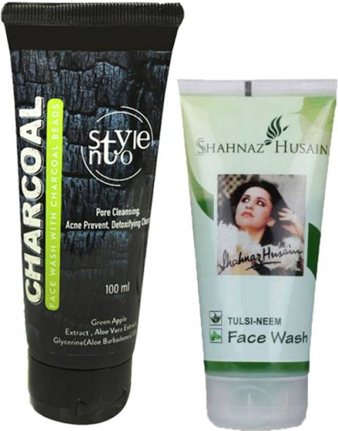 Shahnaz Husain Tulsi Neem  With Stylento Charcoal  100ml Face Wash