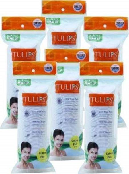 Tulips 50 COTTON PADS IN A ZIPLOCKBAG (PACK OF 6)