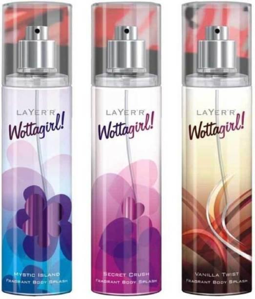 Layer'r Shot WATTAGIRL MYSTIC SECRET CRUSH VANILLA TWIST Deodorant Spray  -  For Women