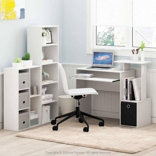 PRITI MDF Wood 5-Cube Open Shelf Book Rack for Home Office Study Room Display and Storage Units (White) Engineered Wood Free Standing Cabinet