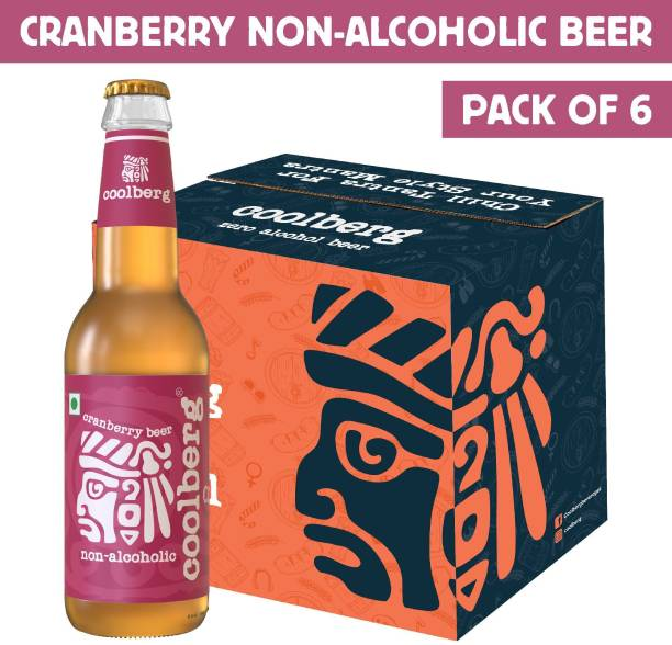 coolberg Cranberry Non Alcoholic Beer - 330ml (Pack of 6) Glass Bottle