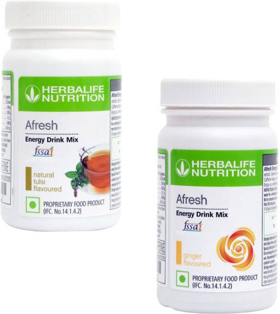 HERBALIFE Afresh Energy Drink Mix - Tulsi Flavor & Ginger For Weight Loss Energy Drink