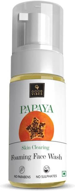 GOOD VIBES Skin Clearing Foaming  - Papaya Face Wash
