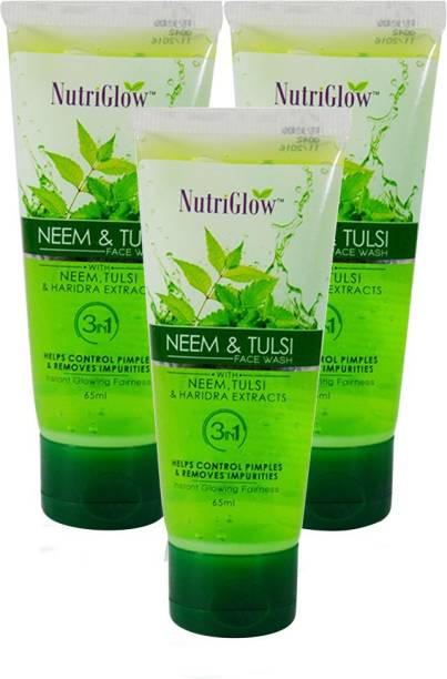 NutriGlow Neem Tulsi  65ml (Pack Of 3) Face Wash