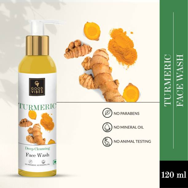 GOOD VIBES Skin Cleansing  - Turmeric for Women Face Wash
