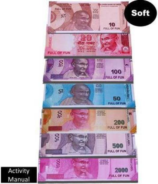 mayureshcollection Mayuresh Pack of 140 pc Combo Playing Indian Currency Notes for Fun | 20pc each Money for kids playing toys | business game money | Dummy currency note money toys Gag Toy Money Gag Toy