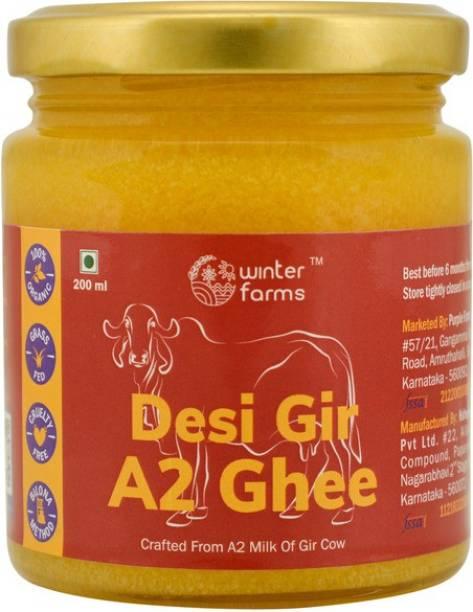 Winter Farms Desi Gir A2 Ghee 200 ml Mason Jar