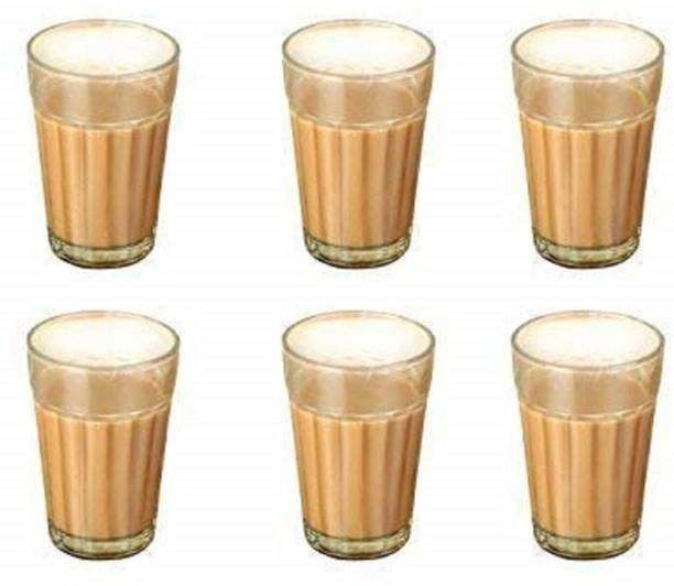 BRIGHTLIGHT (Pack of 6) Glass Tea Glass - 6 Pieces, Clear, 175 ml Glass Set