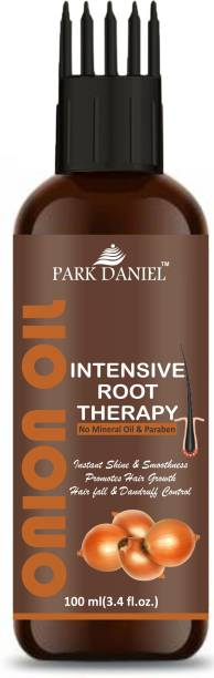 PARK DANIEL ONION OIL- Intensive Root Therapy With Active Hair Growth Booster Ingredients- For Anti Hair fall & Promotes Hair Regrowth(100 ml) Hair Oil